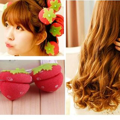 Dewy Kiss - Strawberry Foam Hair Curlers