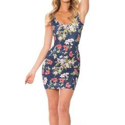 Omifa - Sleeveless Printed Dress