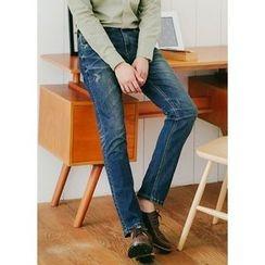 JOGUNSHOP - Straight-Cut Washed Jeans
