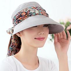 卿本佳人 - 蝴蝶結太陽帽