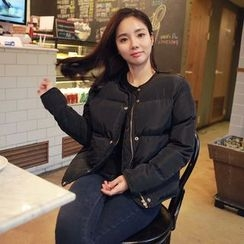 Seoul Fashion - Snap-Button Padded Jacket