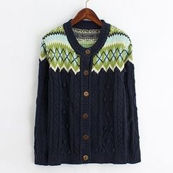ninna nanna - Patterned Cable Knit Cardigan