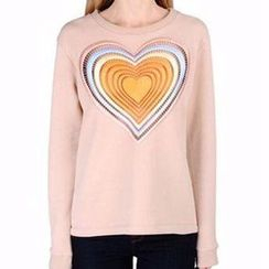 JOYIST - Set: Heart Print Top + Lace Shorts