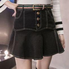 Shiga - A字牛仔布裙