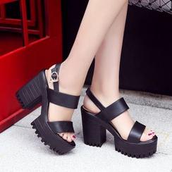 锦洋鞋业 - 粗跟凉鞋