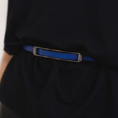 59 Seconds - Geniune-Leather Slim Belt