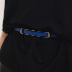 SO Central - Geniune-Leather Slim Belt