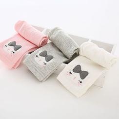 Cuckoo - 小童猫猫刺绣七分内搭裤