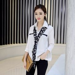 AiSun - Arrow Print 3/4 Sleeve Blouse