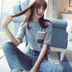 Wimi girls - Stripe Short-Sleeve T-Shirt