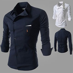 Fireon - Embroidered Long-Sleeve Shirt