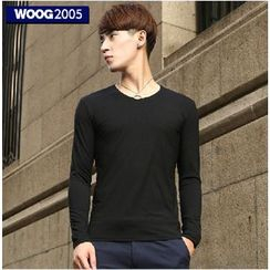 WOOG - Plain Long-Sleeve T-shirt