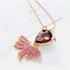 Best Jewellery - Crystal Goldfish Long Necklace