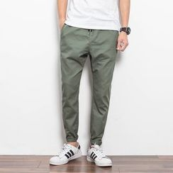 Bay Go Mall - Drawstring Cotton Pants