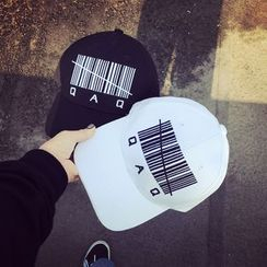 FROME - Barcode Embroidered Baseball Cap