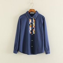 Mushi - Color Block Embroidered Shirt