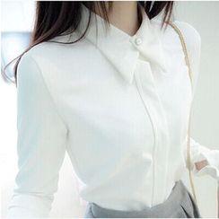 YOSH - 纯色长袖衬衫