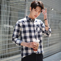 SCOU - Pocket-Front Gingham Shirt