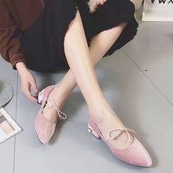 QQ Trend - 缀饰尖头高跟鞋