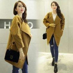 菲兒 - 纯色长款呢子大衣