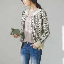 JUSTONE - Pattern Wool Blend Cardigan