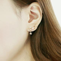 soo n soo - Star-Shaped Rhinestone Earrings