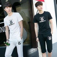 JORZ - Set: Printed Short-Sleeve T-Shirt + Shorts