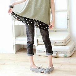 Tokyo Fashion - Elastic-Band Cropped Jeans