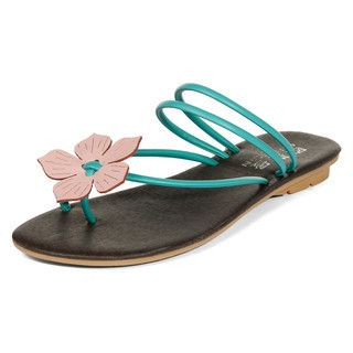 yeswalker - Flower-Accent Strappy Sandals