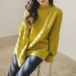 JUSTONE - Raglan-Sleeve Rib-Knit Sweater