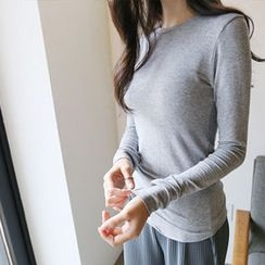 Hello sweety - Round-Hem Long-Sleeve T-Shirt
