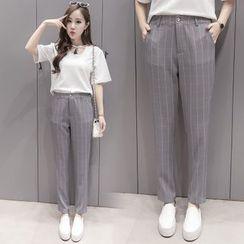 Sienne - Plaid Pants