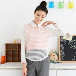 59 Seconds - Open-Knit Top
