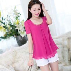 Sienne - Short-Sleeve Chiffon T-Shirt