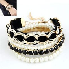 Bling Thing - Faux Pearl Bracelet Set