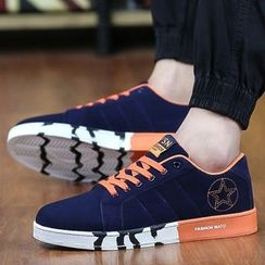 Komm - Colour Block Canvas Sneakers
