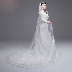 MSSBridal - Bow Accent Wedding Veil