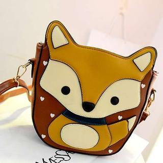 M.R. - Faux Leather Fox-Accent Crossbody Bag
