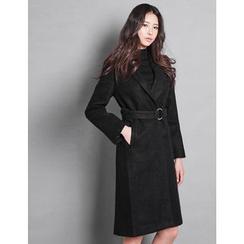 GUMZZI - Wool Blend Belted Coat