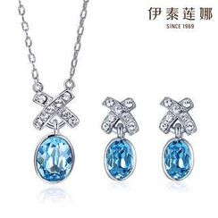 Italina - Set : Austrian Crystal Necklace + Earrings