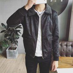 Jimboy - Faux Leather Jacket