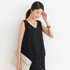 SO Central - Sleeveless Layered Chiffon Top