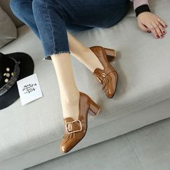 Megan - Patent Fringed Loafers