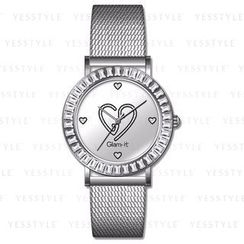 Glam-it! - Swarovski Crystal Bling Heart Stainless Steel Watch (Limited Edition)