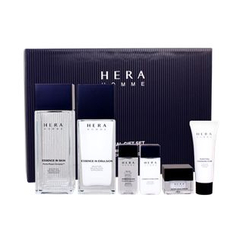 HERA - Homme Essence In Set: Skin 125ml + 20ml + Emulsion 110ml + 20ml + Cleansing Foam 25ml + Super Aqua Cream 5ml