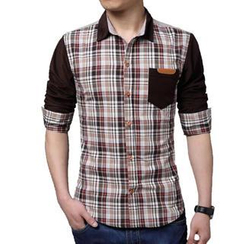 Gurun Vani - Plaid Panel Shirt