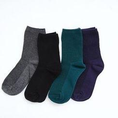 BAIMOMO - 罗纹袜