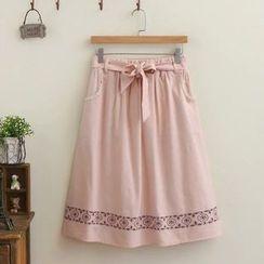 TOJI - Printed A-Line Skirt