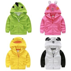 Seashells Kids - Kids Animal Hooded Zip Jacket