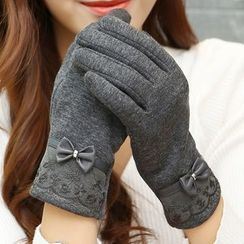 Scarflet - Bow-Accent Gloves
